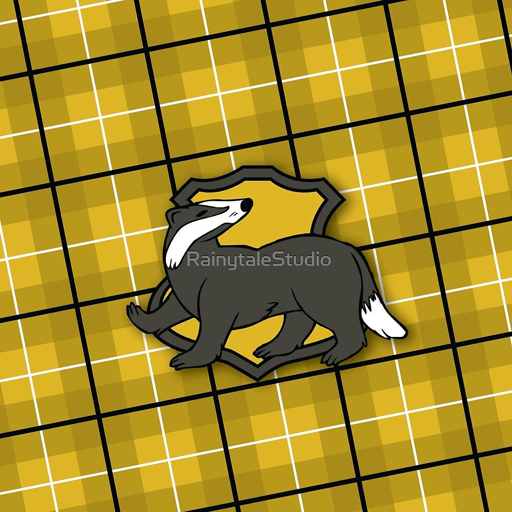 Badger House Plaid by RainytaleStudio