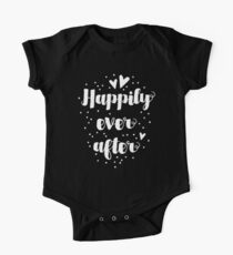 Happily ever after in beautiful brush font One Piece - Short Sleeve