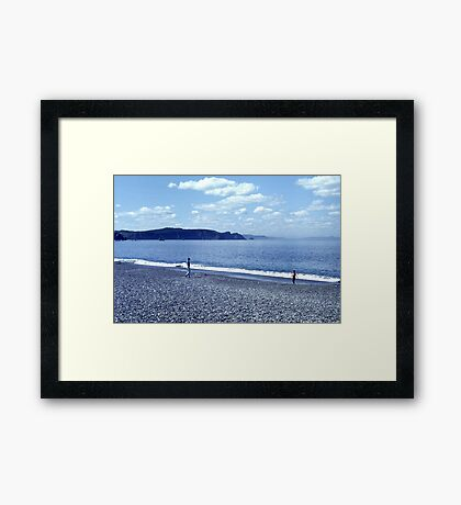 Bellevue Beach Framed Print