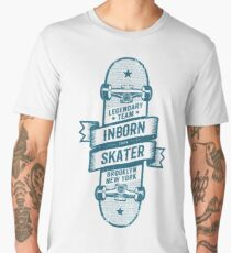 Skateboard wrapped with a ribbon with inscriptions Men's Premium T-Shirt