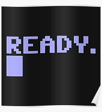 ready commodore 64 Poster