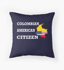 Cadeau de citoyenneté US Drapeau colombien Naturalisation citoyen présent Coussin