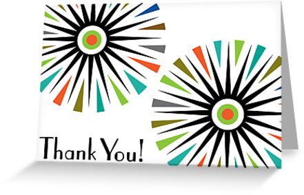 Starburst -  Thank You - Card by Andi Bird