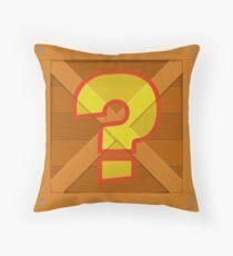 crash question mark crate Throw Pillow