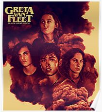2018 Tour Blake smoke rising best seller Greta tour fun Van Fleet  Poster