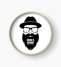Grow A Beard Clock