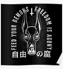 Freiheit ist Agonie, schwarz Poster
