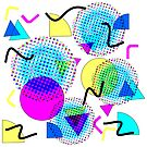 Memphis Colorful Bright Modern Geometric Pattern by Artification