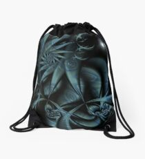 BlueFleur-03 Drawstring Bag