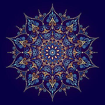 Flourish Mandala Design Element by amovitania