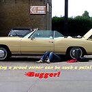 Postcard Bad luck! Vintage car broke down. by patjila