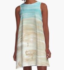 Zu zweit am Meer A-Linien Kleid