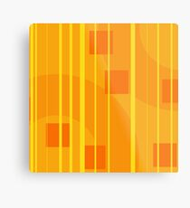 Geometric Graphic Design with Stripes and Rectangles Metal Print