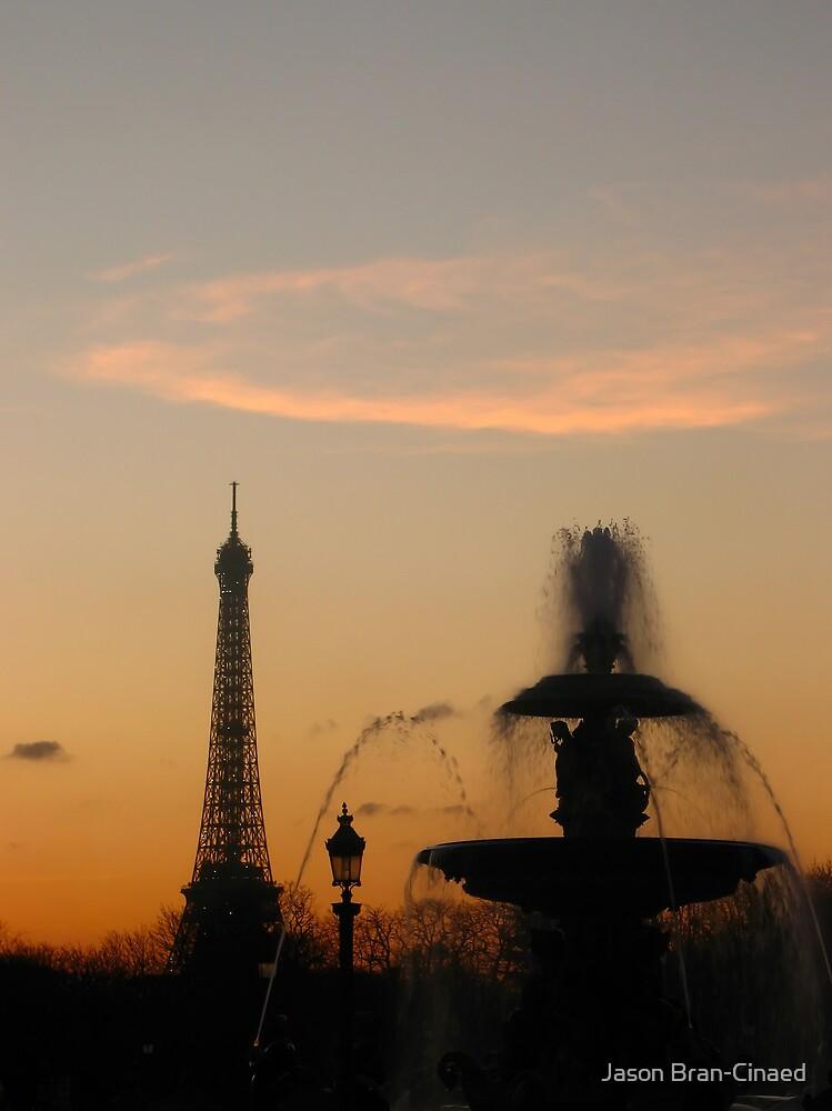 Eiffel Tower & Fountain at Sunset by Jason Bran-Cinaed