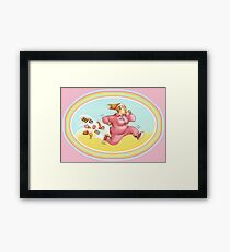 Burn calories with sport Framed Print