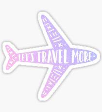 Let's travel more. Plane Sticker