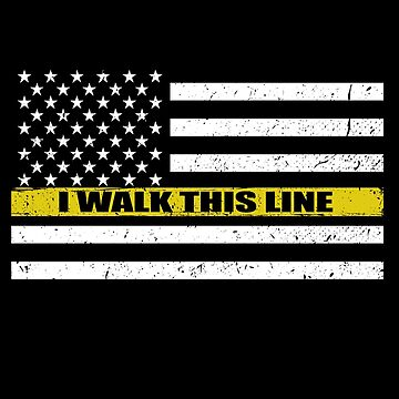 911 Dispatcher I Walk This Line Flag by bluelinegear