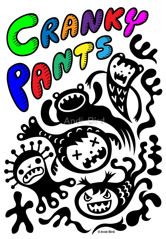 Cranky Pants ll - card  by Andi Bird
