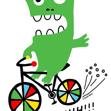 Critter Bike ll - card  by andibird