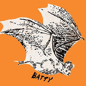 Batty Bat Flying Friend | Vintage Style Illustration by ImaginaryAnimal