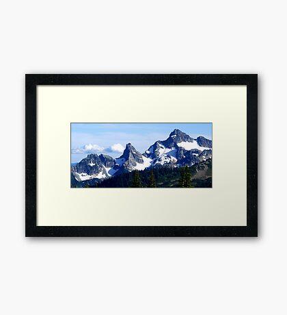 Goat Island Panoramic Framed Print