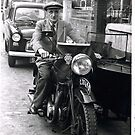 Uncle Harold and his motorbike and sidecar by alanf1