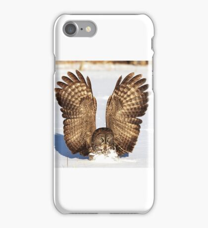 Caught - Great Grey Owl iPhone Case/Skin
