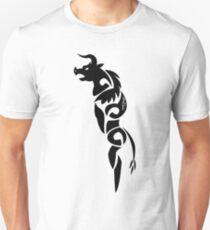 Gothic Black Minotaur Unisex T-Shirt