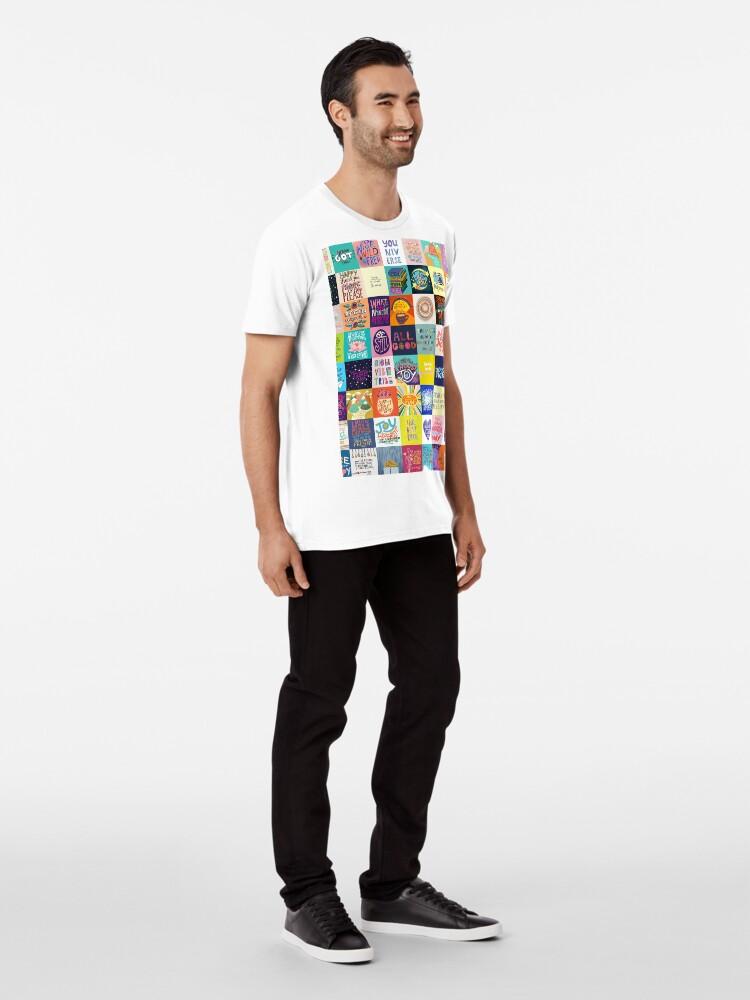 Alternative Ansicht von Positivität Patchwork Premium T-Shirt