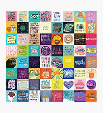 Positivity Patchwork Photographic Print