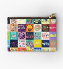 Positivity Patchwork Studio Pouch