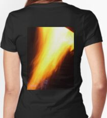 God Is A Consuming Fire! Women's Fitted V-Neck T-Shirt