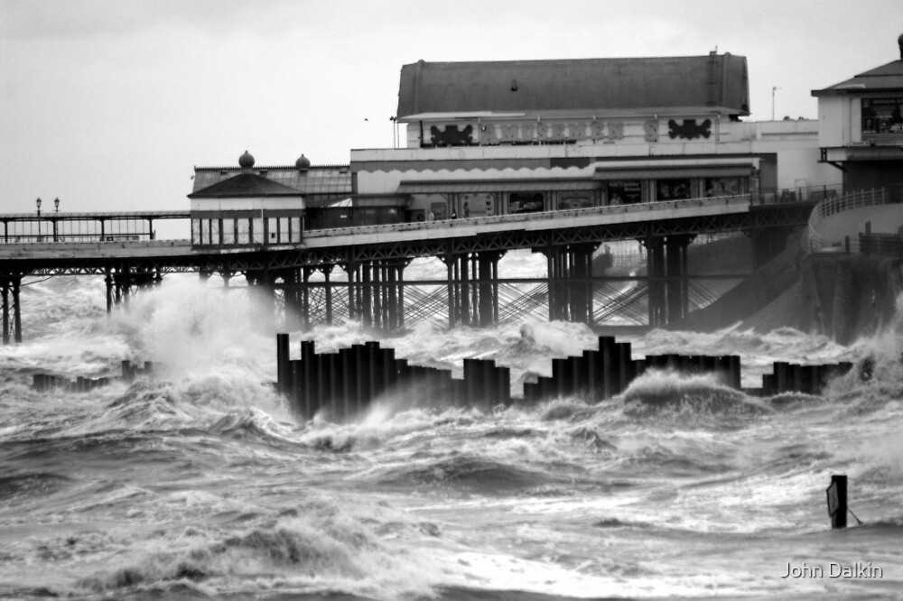 Blackpool, Rough Seas. by John Dalkin