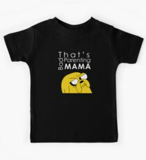 That's Bad Parenting Mama - Adventure Time (white) Kids Tee