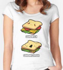 Cute Sandwich Nerd Women's Fitted Scoop T-Shirt