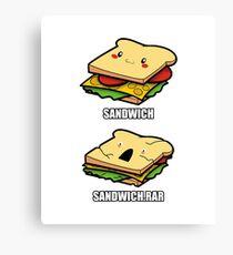 Cute Sandwich Nerd Canvas Print