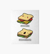 Cute Sandwich Nerd Art Board