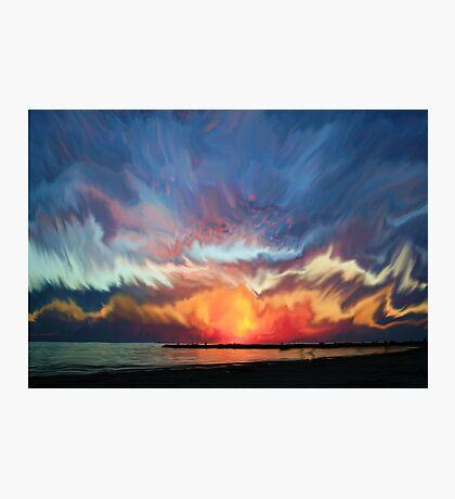 Amazing sunset Photographic Print