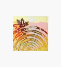Kleines Bogenmuster auf gelbem und rosa Hintergrund - Wassereffekt Galeriedruck
