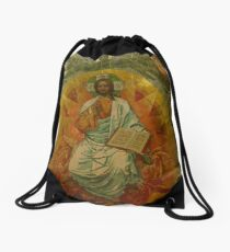 Church on Spilt Blood Drawstring Bag