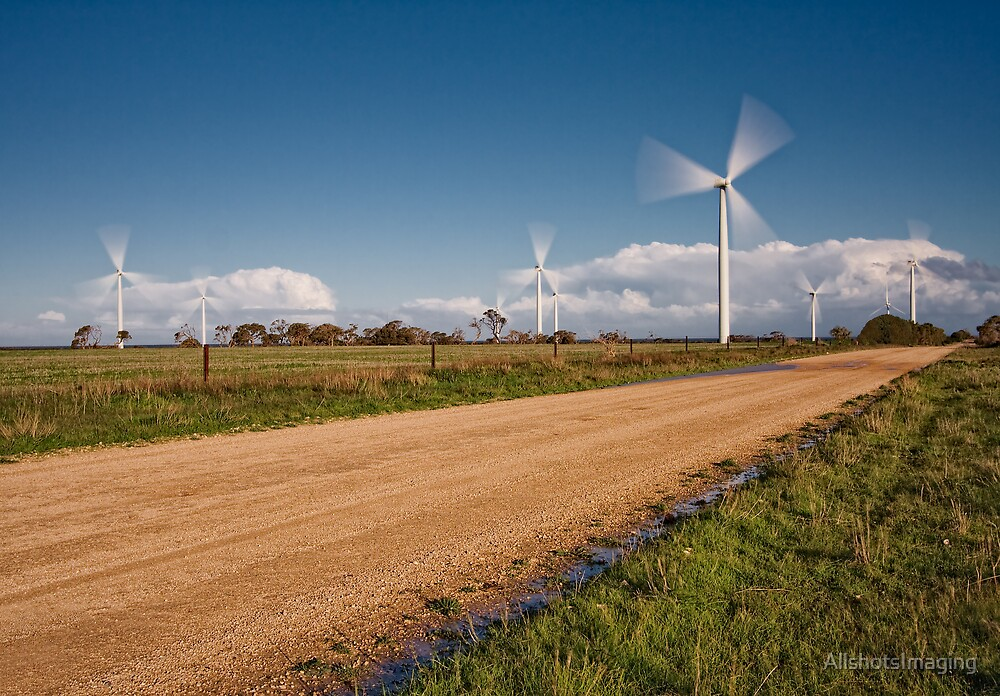 Wind Power in Motion by AllshotsImaging