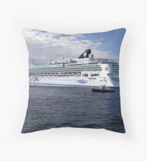 Norwegian Pearl-Victoria Throw Pillow