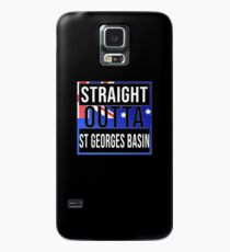 Straight Outta St Georges Basin Retro Style - Gift For An Australian From St Georges Basin in New South Wales , Design Has The Australia Flag Embedded Case/Skin for Samsung Galaxy
