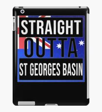 Straight Outta St Georges Basin Retro Style - Gift For An Australian From St Georges Basin in New South Wales , Design Has The Australia Flag Embedded iPad Case/Skin
