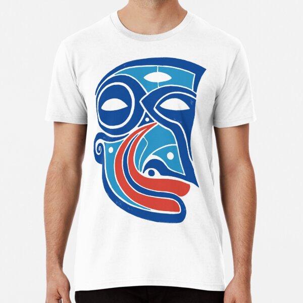 Maske Totem Wassergeist Kobold Premium T-Shirt