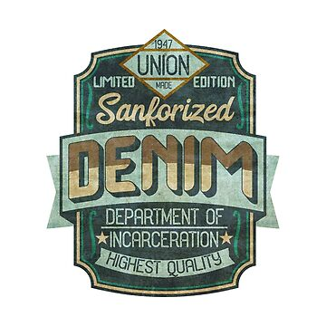 Vintage Grungy Logo-Department of Incarceration by broadmeadow