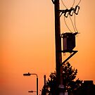Sunset Power Lines by heidiannemorris