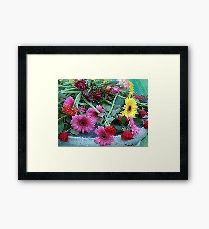 Flower Offering Framed Print