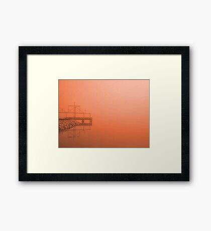 Fog at Sunset Framed Print