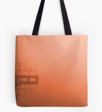 Fog at Sunset Tote Bag